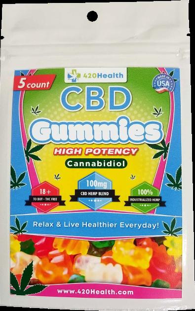 420 Health CBD Gummies 5ct 100mg