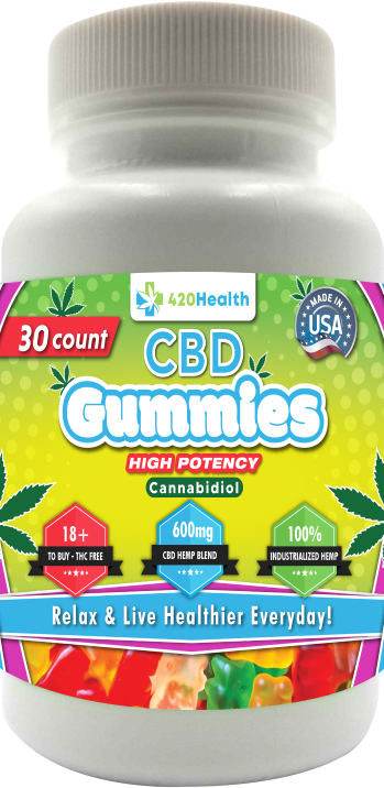 420 Health CBD Gummies 30ct Bottle 600mg